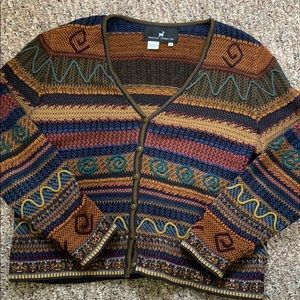 Peruvian Connection RARE embroidered cardigan
